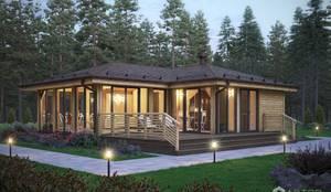 Экстерьер гостевого дома: Дома с террасами в . Автор – Архитектурная студия 'АВТОР'