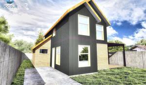 Fachada: Casas de estilo  por NidoSur Arquitectos