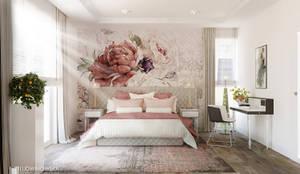 LEMON TREE: styl , w kategorii Sypialnia zaprojektowany przez Ludwinowska Studio Architektury,