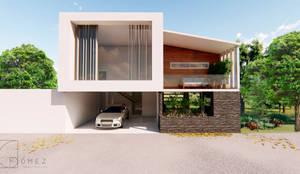 CASA DE CAMPO FAMILIA HERNÁNDEZ : Casas de campo de estilo  por GóMEZ arquitectos