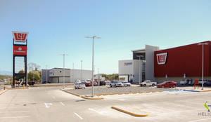 Vista al llegar: Centros Comerciales de estilo  por Helicoide Estudio de Arquitectura