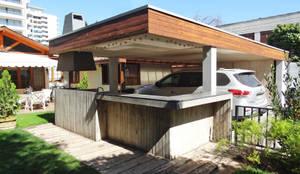 Quincho Hannover, La Reina: Garages de estilo  por m2 estudio arquitectos