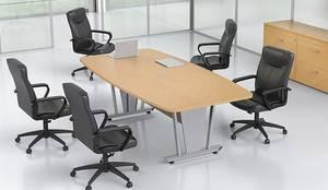 Mesa para Sala de Juntas Ejecutiva: Estudios y oficinas de estilo  por GREAT+MINI
