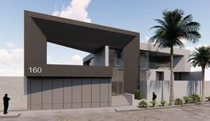 FACHADA PRINCIPAL: Casas de estilo  por GRUPO VOLTA