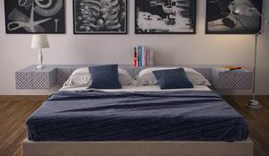 Camera da letto con mattonelle Palmarola 451: Camera da letto in stile  di CERAMICHE MUSA