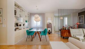 Entrada - Zona de jantar - Moradia em Leça da Palmeira - SHI Studio Interior Design: Salas de jantar  por SHI Studio, Sheila Moura Azevedo Interior Design