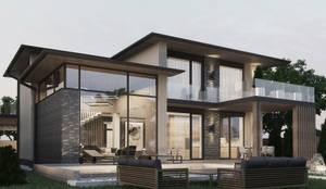 Жилой дом  в кп. Олимпийский  г. Аксай: Дома с террасами в . Автор – studio forma