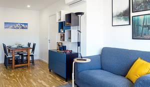 Proyecto Gran Via: Comedores de estilo  de Estudi Aura, decoradores y diseñadores de interiores en Barcelona