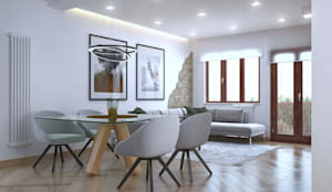 Zone giorno - Design & Render: Soggiorno in stile  di Santoro Design Render
