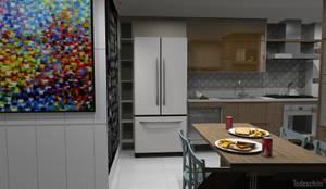 Bancada da pia: Armários e bancadas de cozinha  por Ana Adriano Design de Interiores