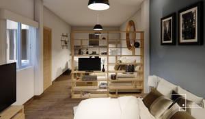 DEPARTAMENTOS EVANGELINA: Salas de estilo  por Tierra Fría