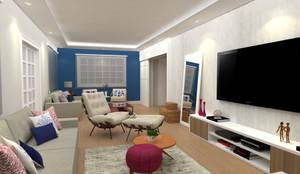 Sala de estar : Salas de estar  por DV ARQUITETURA