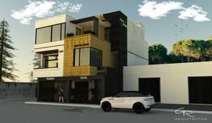 Fachada Principal : Edificios de Oficinas de estilo  por GT-R Arquitectos
