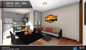 DEPARTAMENTO EN VENTA – NRO 201: Casas multifamiliares de estilo  por Inter Designer,