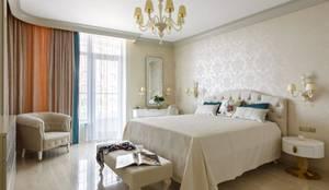 Люстра для спальни в дизайнерской квартире в Санкт-Петербурге: Спальни в . Автор – MULTIFORME® lighting