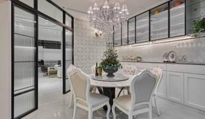 古典歐式風餐廳:  餐廳 by 趙玲室內設計