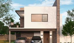 Casas en fraccionamiento Real del Nogalar (en construcci´ón): Casas de estilo  por VillaSi Construcciones, Moderno