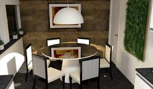 Sala de Jantar: Salas de jantar  por Silvana Lima e UrbanaDI,Moderno