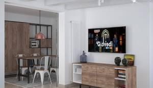 Ingresso & Zona Living (Capo d'Orlando - ME): Soggiorno in stile  di Santoro Design Render