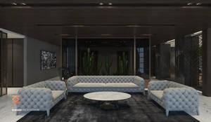 غرفة المعيشة تنفيذ ICONIC DESIGN STUDIO