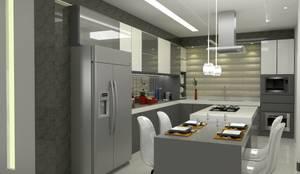 Cozinha Integrada: Cozinhas  por Multiplanos Arquitetura