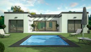 Casa prefabricada en hormigón en Madrid Modelo Family: Casas prefabricadas de estilo  de Trenta Casas Prefabricadas de Hormigón en Madrid