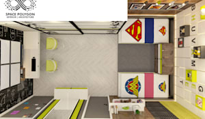 Kids Bedroom:  Small bedroom by Space Polygon