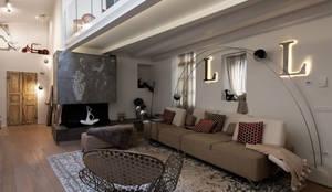 Casa FC: Soggiorno in stile  di GIAN MARCO CANNAVICCI ARCHITETTO
