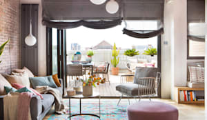 Salón abierto al exterior: Salones de estilo  de xmas Arquitectura