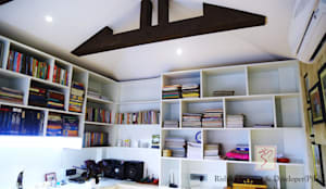 Study room :  Study/office by Rishika Interior & Developer (p) Ltd.
