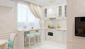 Дизайн-проект квартиры студии по пр. Победителей: Кухни в . Автор – BOHO DESIGN