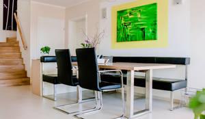 Moderner Esstisch mit Ausziehfunktion:  Esszimmer von T-raumKONZEPT - Interior Design im Raum Nürnberg,