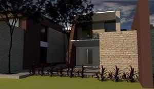 Acceso Peatonal: Casas unifamiliares de estilo  por diseño con estilo ... sas