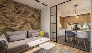 Дизайн гостиной : Гостиная в . Автор – VAKULENKODESIGN, Лофт Кирпичи