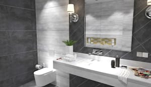 Bathroom-3:  Bathroom by Inaraa Designs,