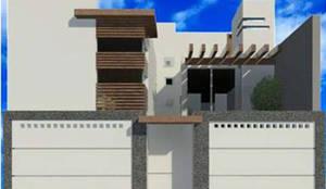 proyecto y render: Casas de estilo  por 8 AM INGENIERIA