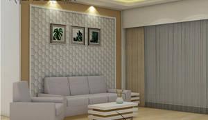 Sofa wall :  Living room by Midas Dezign