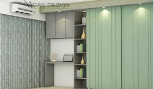 Master Bedroom:  Small bedroom by Midas Dezign