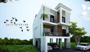 home 8:  บ้านเดี่ยว โดย walkinterior , โมเดิร์น