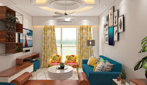 Mid-Century Modern Living Room:  Living room by TheMistris