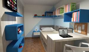 Dormitorio Infantil: Cuartos pequeños  de estilo  por Inspira