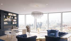 Diseño de interiores y decoración oficinas: Estudios y despachos de estilo  de Stockholm Barcelona Design - Interioristas en Barcelona