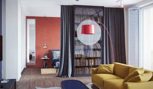 Интерьер квартиры-студии в современном стиле: Гостиная в . Автор – Дизайнер Фёдор Иванов