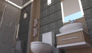 Baño 3d: Baños de estilo  por baymac