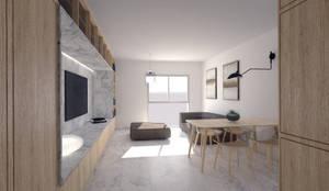 Reforma de apartamento en Córdoba: Salones de estilo  de POA Estudio Arquitectura y Reformas en Córdoba