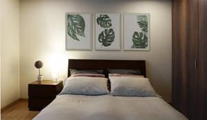 habitación principal: Habitaciones pequeñas de estilo  por TikTAK ARQUITECTOS,