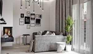Дизайн проект Дуплексу в Скандинавському стилі в с. Гатне (137 кв. м):  Вітальня by Artlike