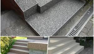 Treppenrenovierung mit einem Steinteppich :  Treppe von Steinteppich der Balkon & Terrassenbelag deutschlandweit,