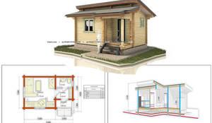 небольшой дом: Деревянные дома в . Автор – Projectstroy