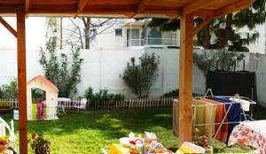 ANTES DEL JARDÍN : Jardines de estilo  por HZ ARQUITECTOS SANTIAGO DISEÑO COCINAS JARDINES PAISAJISMO REMODELACIONES OBRA